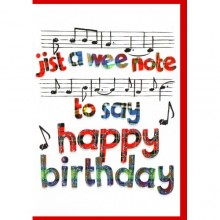Scottish birthday card - Jist a wee note to say happy birthday