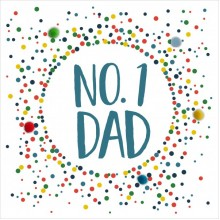 Birthday card Dad - pompom No 1 Dad