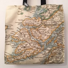 Scottish vintage map Tote bag