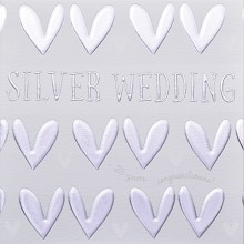Wedding anniversary card 25 - Silver wedding, 25 years congratulations!