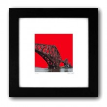 Digital art framed print Forth Rail Bridge - Made in Glasgow