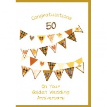 Wedding anniversary card 50 - Scottish golden wedding anniversary