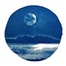 Made in Oban - mounted cyanotype Moon