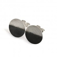 Handcrafted Scottish jewellery - Scottish Skies Gloaming silver circle stud earrings