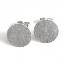 Handcrafted Scottish jewellery - Scottish Skies Haar silver circle stud earrings