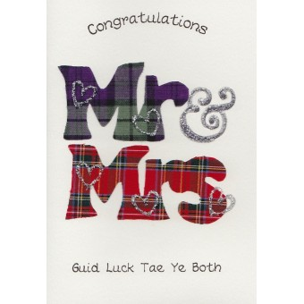 Scottish Wedding card - Mr & Mrs